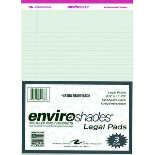 Enviroshades Legal Pad, 8-1/2 x 11-3/4 Inches, Gray, 50 Sheets, Pack of 3