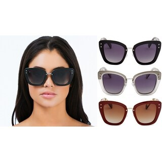 PRIVÉ REVAUX ICON Collection The Grace Handcrafted Designer Polarized Cat-Eye Sunglasses For Women