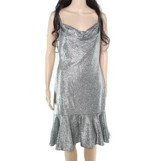 Link to Nightway Womens Dress Sheath Flounce Hem Cowl Neck Similar Items in Dresses