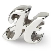 Sterling Silver Reflections Letter H Script Bead (4mm Diameter Hole)
