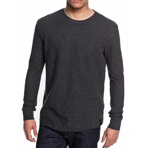 Quiksilver Mens Sweater Gray Size 2XL Thermal Knit Crewneck Pullover