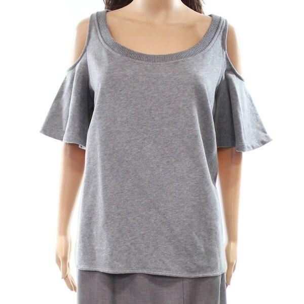 Lauren by Ralph Lauren Womens Medium Cold Shoulder Sweater