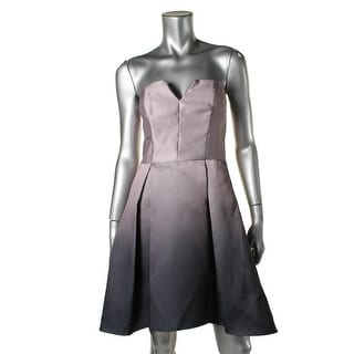 Betsy & Adam Womens Ombre Strapless Cocktail Dress