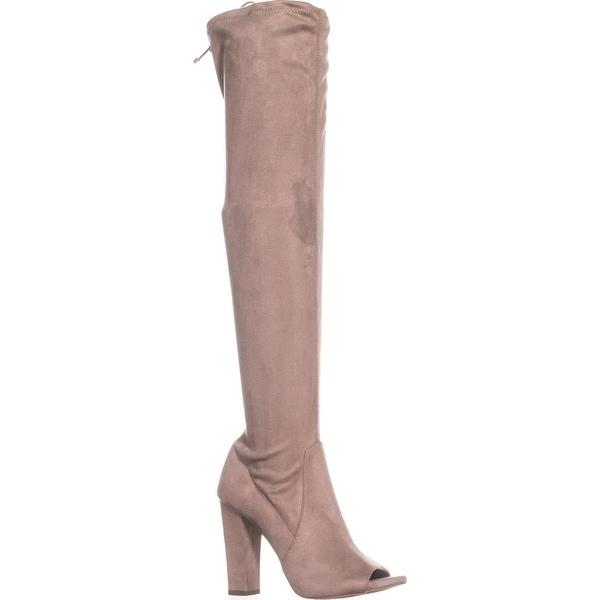 d049e47d2 Shop Carlos by Carlos Santana Fitz Peep Toe Over The Knee Boots, Doe ...