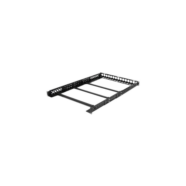 "StarTech UNIRAILS1U StarTech.com 1U Fixed 19"" Adjustable Depth Universal Server Rack Rails - For Server - Steel - Black"
