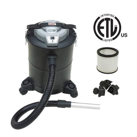 ALEKO ETL Ash Vacuum Multipurpose Cleaner On Wheels 5 Gallons