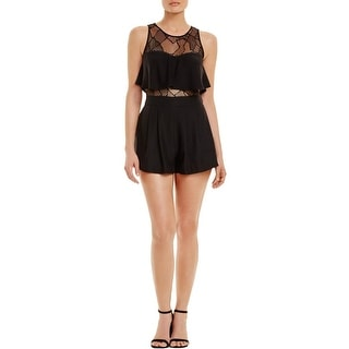 Parker Womens Kamal Romper Ruffle Lace Inset