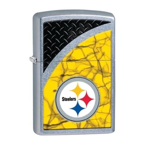 Zippo 29375-053309 NFL Steelers Street Chrome Windproof Lighter