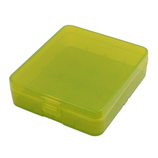 81mmx73mmx23mm Hard Plastic Battery Storage Case Holder Organizer