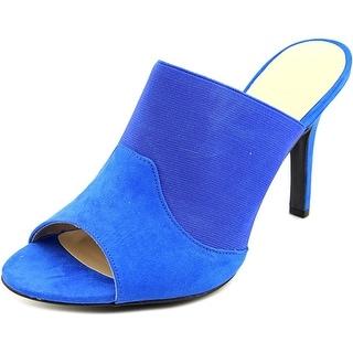 Ann Marino by Bettye Muller Dara Women Open-Toe Synthetic Blue Mules