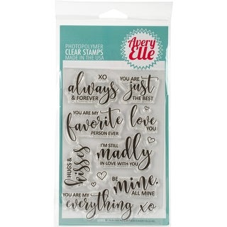 "Avery Elle Clear Stamp Set 4""X6""-Favorite Person"