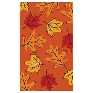 Home & More 12096 Fall Leaves - Vinyl Back Mat - 18 X 30 Inches