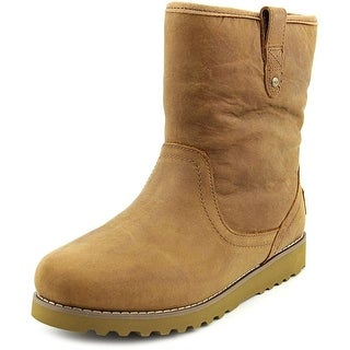 Ugg Australia Redwood Youth Round Toe Leather Tan Winter Boot