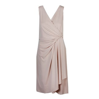 Dkny Tan Sleeveless Sheath Dress 12