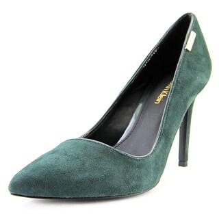 Calvin Klein Calida Women Pointed Toe Suede Green Heels