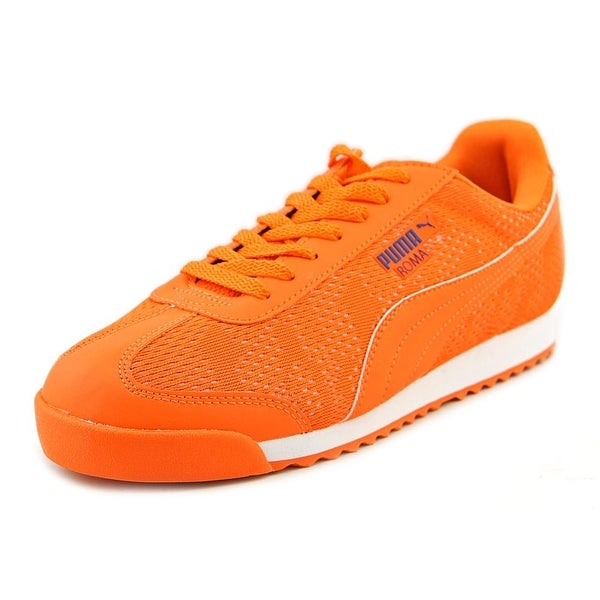 Puma Roma Engineer Camou Men Round Toe Synthetic Orange Sneakers