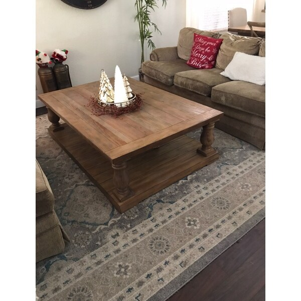 Edmaire Rustic Baer 60 Inch Coffee Table By Inspire Q On Free Shipping Today 9821281