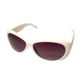Esprit Womens Sunglass 19279 536 Oval White Plastic Fashion, Smoke Lens