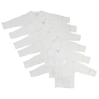 Bambini Long Sleeve Side Snap With Mittens 6 Pack - Size - Newborn - Unisex