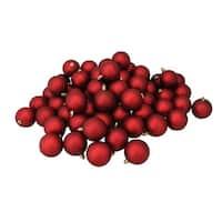 "60ct Red Hot Shatterproof Matte Christmas Ball Ornaments 2.5"" (60mm)"