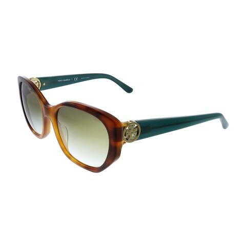 Tory Burch TY 7141 17938E 55mm Womens Havana Frame Grey Lens Sunglasses
