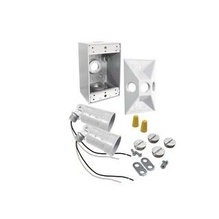 Bell 5818-6 Rectangular Box & Floodlight Kit, White