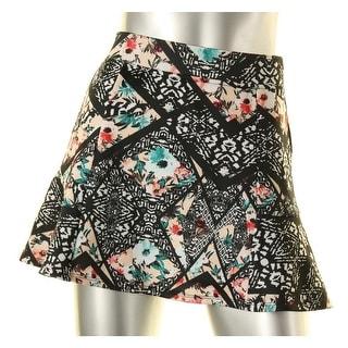 Material Girl Womens Juniors Mini Skirt Scuba Printed - XS
