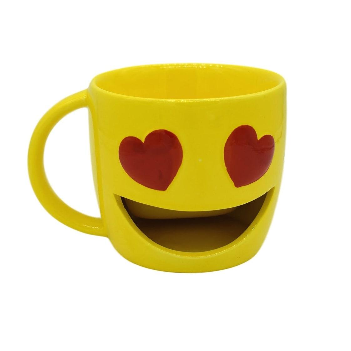 Kaomojizone Heart Eyes Emoji Mug Overstock 31312935