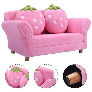 Costway Kids Sofa Strawberry Armrest Chair Lounge Couch w/2 Pillow Children Toddler Pink|https://ak1.ostkcdn.com/images/products/is/images/direct/35c0e931f8a2884e3d99a78bb5b14577a16b35db/Costway-Kids-Sofa-Strawberry-Armrest-Chair-Lounge-Couch-w-2-Pillow-Children-Toddler-Pink.jpg?impolicy=medium