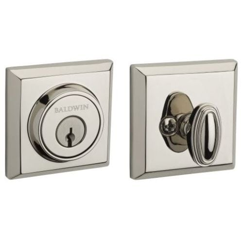 Baldwin SC.TSD Traditional Square Single Cylinder Keyed Entry Deadbolt