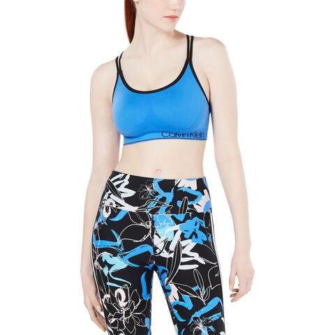 Calvin Klein Performance Womens Sports Bra Low Impact Fitness