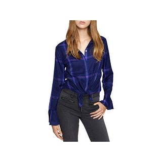 Sanctuary Womens Blouse Button-Down Long Sleeves