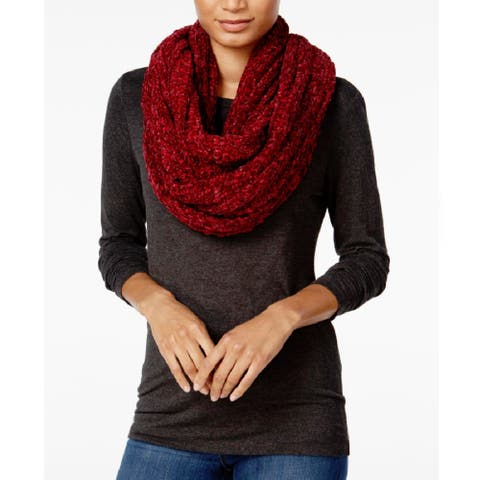 Charter Club Women's Velvety Marled Chenille Infinity Mulberry Spice - Red - One Size Fits Most