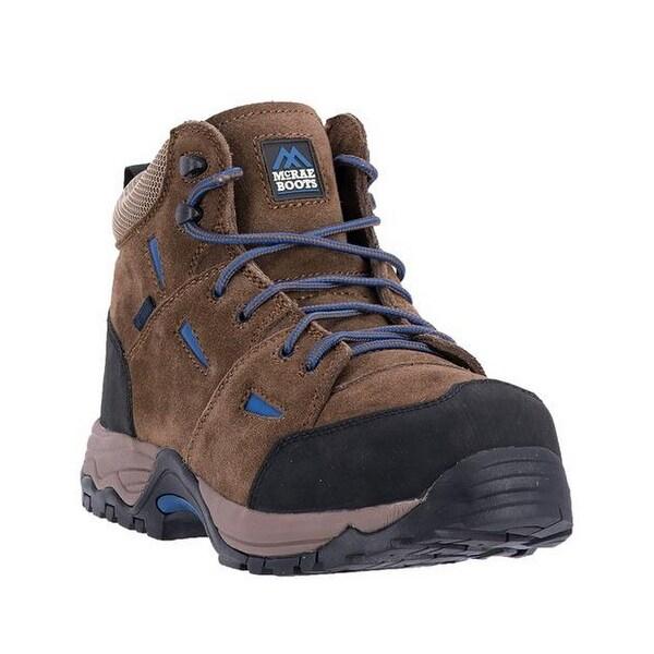 McRae Industrial Work Boots Mens Suede CT Met Hiker Brown
