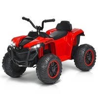 Gymax 12V Kids 4-Wheeler Quad ATV Battery Powered Ride On Toy w/ Lights & Music Red