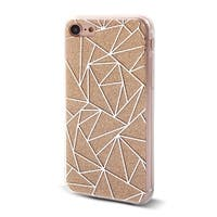 Geometric Pattern Back Protective Phone Hard Case Cover Yellow for iPhone 7