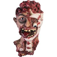 Rotted Zombie Head Prop Halloween Decoration