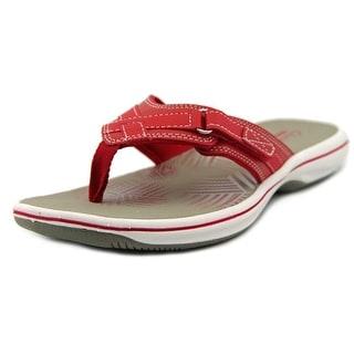Clarks Breeze Sea Open Toe Synthetic Thong Sandal