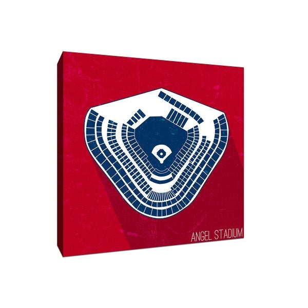 Angel Stadium Seating Map - MLB Seating Map - 20x20 Gallery Wrapped Canvas