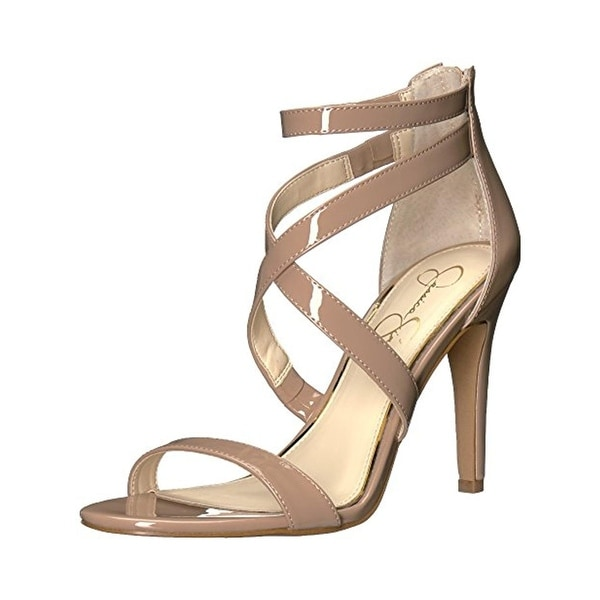 Jessica Simpson Womens Ellenie Heels Strappy Open Toe