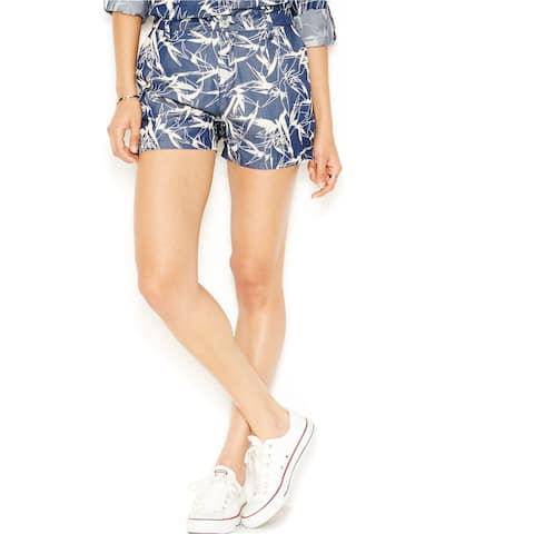 Rachel Roy Womens Printed Casual Walking Shorts, blue, 30
