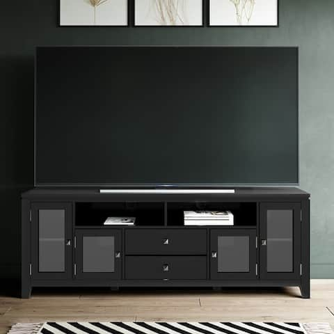 WYNDENHALL Essex Solid Wood 72-inch Contemporary TV Stand