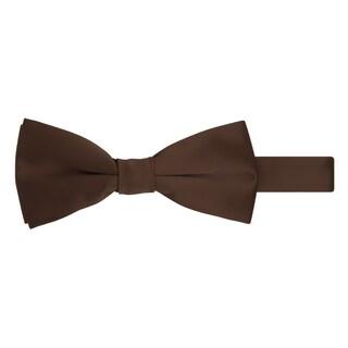 Jacob Alexander Men's Pretied Banded Adjustable Solid Color Bowtie - One size