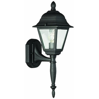 Thomas Lighting SL7367 Woodbrook 1 Light Outdoor Wall lantern in Black Finish