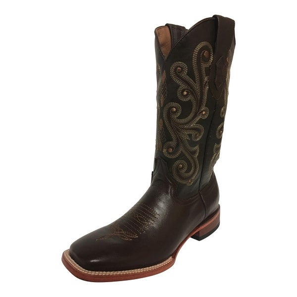 d2c4c2273d0 Ferrini Western Boots Men Leather Lined French Calf Chocolate