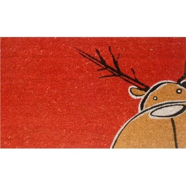 Home & More 12097 Christmas Moose Doormat