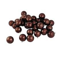 "12ct Shiny Chocolate Brown Shatterproof Christmas Ball Ornaments 4"" (100mm)"