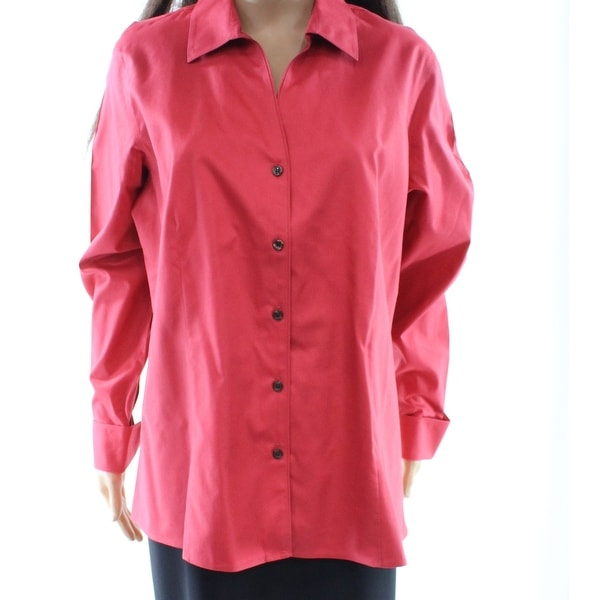 4a13314ce Shop Jones New York NEW Pink Women's Size 14W Plus Button Down Shirt - Free  Shipping On Orders Over $45 - Overstock - 19557457