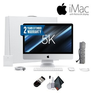 Apple 27-inch iMac ,Retina 5K Display, 8GB RAM, Bundle With Warranty