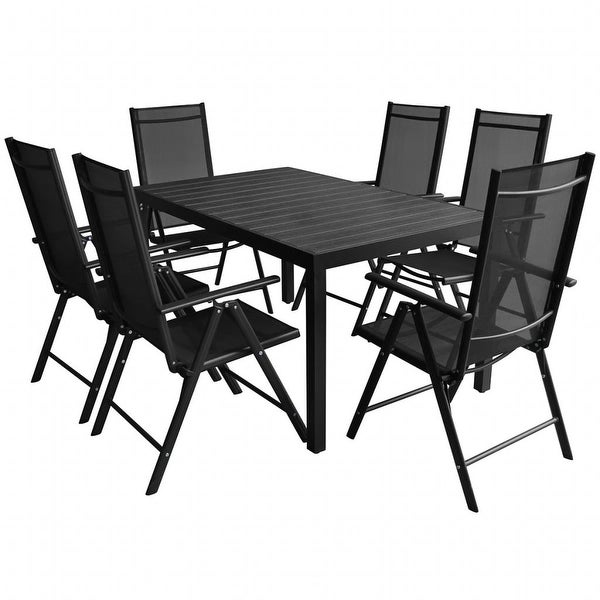 Shop VidaXL Outdoor Dining Set Table And Chair 7 Piece WPC